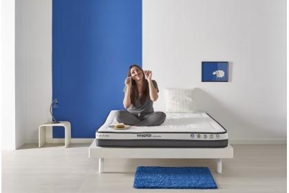 Matelas Whisper® CLASSIC en mousse HR Blue Latex® et laine Mérinos hypoallergénique, 9 zones ergonomique 18 cm