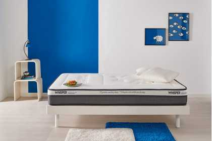 Matelas Whisper® CLASSIC+ en mousse HR Blue Latex® et mémoire de forme Memory 80®, 9 zones ergonomique 21 cm