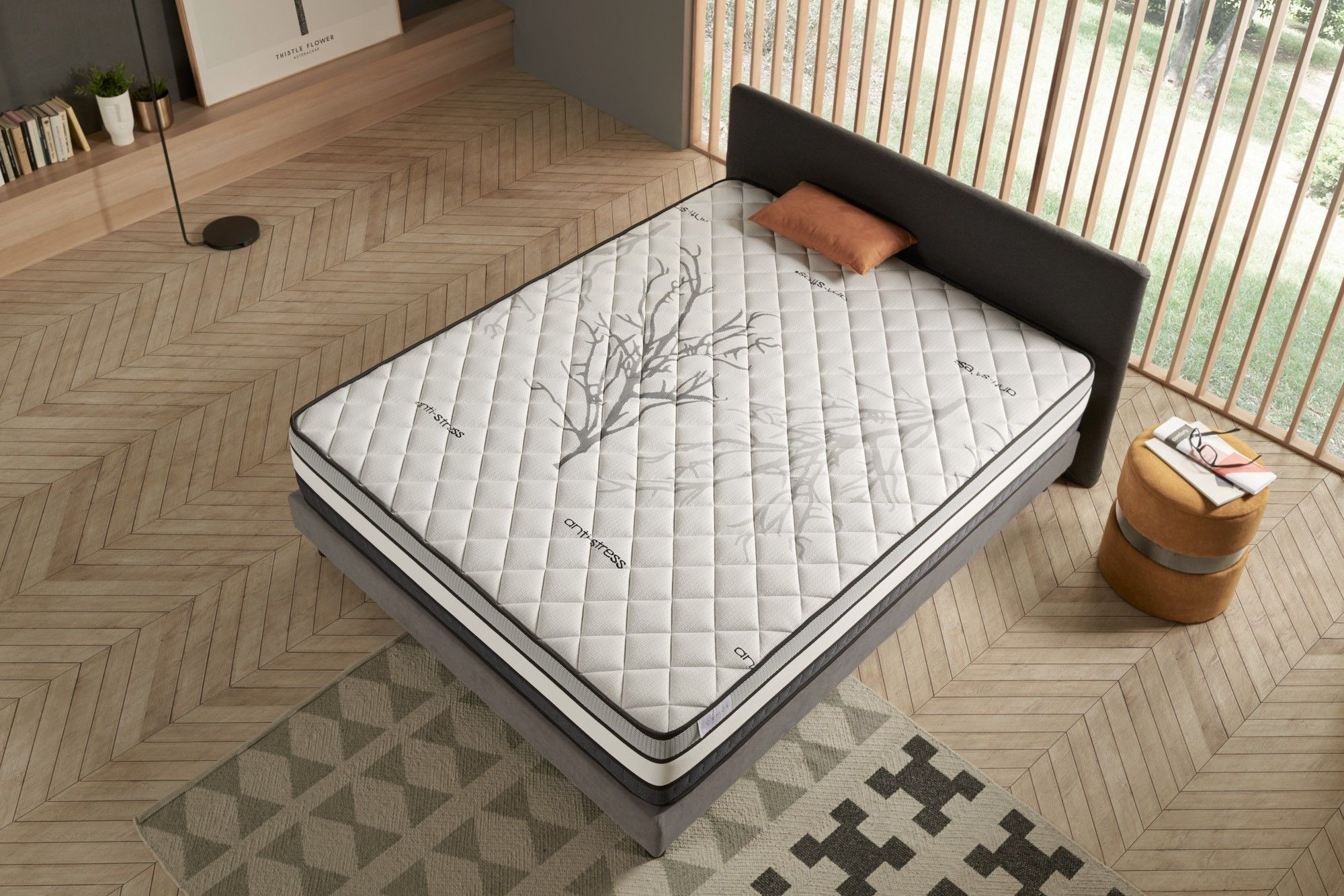 "Solar High End Memory Foam matrace | Povlečení Cosmos | Tloušťka: 30 cm / 11,81 """
