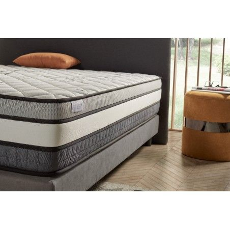 Thanks to the Visco V200 memory foam, the weight is redistributed in a balanced way to relieve the pain in your body