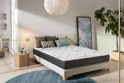 With its 22 cm thickness and thanks to its combination of 4 layers of new technologies, the Naturalex System mattress offers perfect comfort and incredible support.