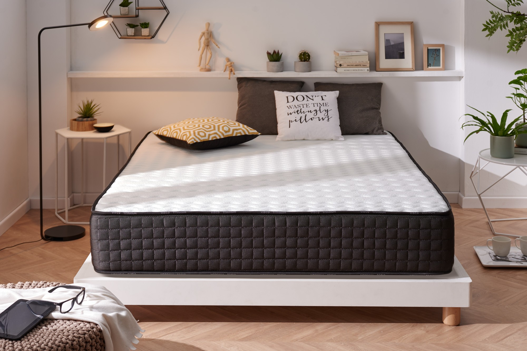 The ideal marriage between latex and viscoelastic offers you the perfect rest for the whole family.