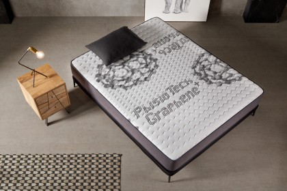 Sleep as if you are on a cloud, with the sensation of floating in the air thanks to this mattress made of innovative materials.