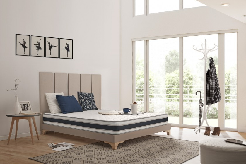 Naturalex manufacturing quality, the Blue Latex® technology, the thickness, the comfort of reception and the firm support are the best allies of pleasant nights. Extremely durable with quality design.