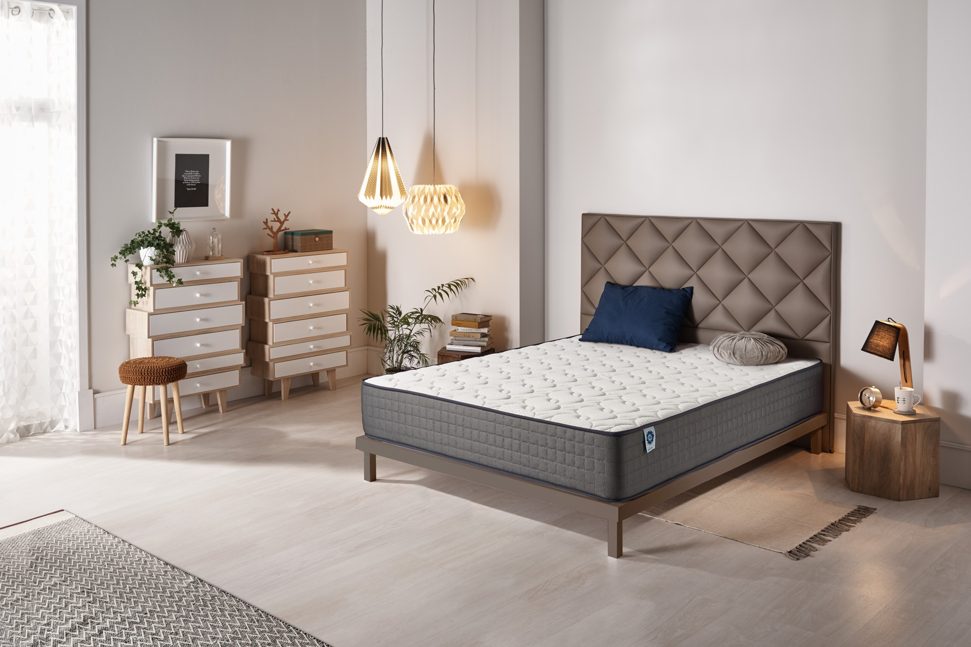 The new Bio Memory memory foam is a new generation high quality viscoelastic foam that offers different comfort zones