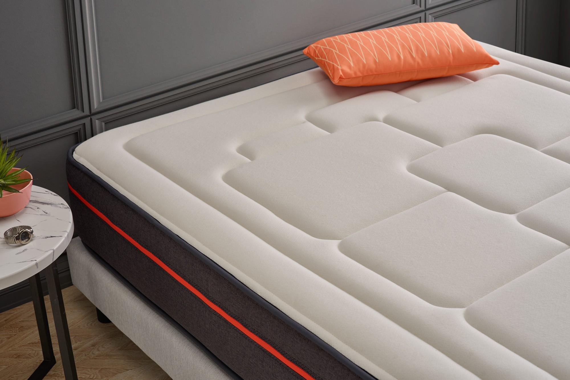 Zen-Pur is associated with a 3D profiled fabric, the Air Fresh system improves air circulation in the bedding and prevents the concentration of any type of humidity.