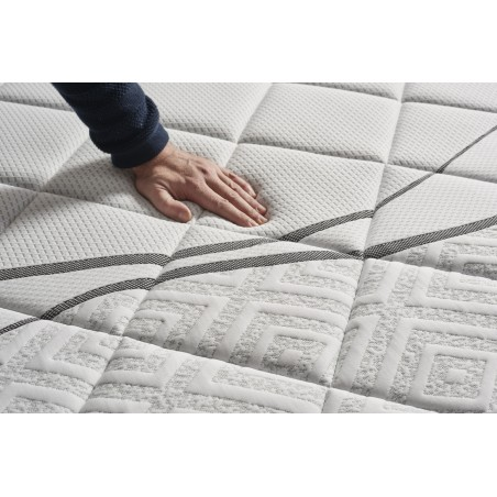 The material of which it is made is more breathable than conventional foams. It has been specially designed to prevent dampness in bedding and remove heat during summer nights.