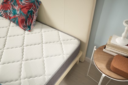 100% comfort imprint offering firm support and a balanced welcome, suitable for sleepers looking for a firm bed with a slightly soft welcome for a re-energizing sleep without micro-awakenings.