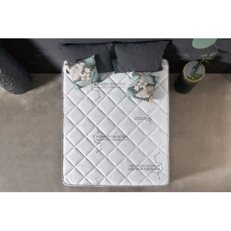This mattress has a multilayer system of different materials, such as high density Visco V90