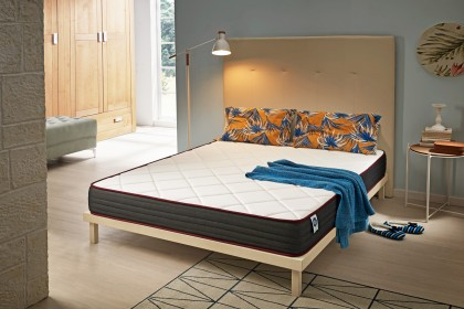 The Dualvisco mattress is a very ergonomic model, with a unique adaptability, with a firm support to improve the quality of sleep by reducing the pressure of the most tired areas of the body.