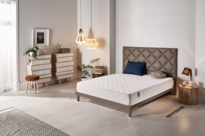 The top layers of Viscotex memory foam are combined with Blue Latex® technology which provides the necessary firmness to the mattress.