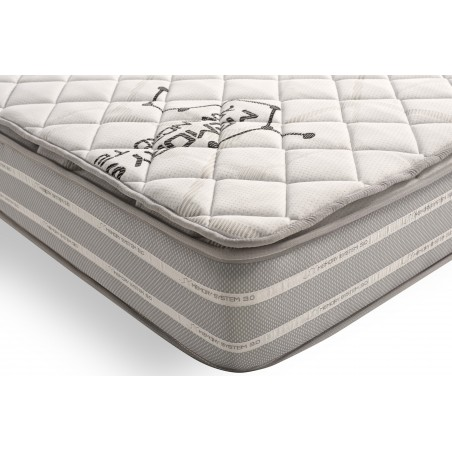 Thanks to the AirFresh system in the summer side made of aerated 3D fabric for optimal air circulation between the topper and the mattress: the air in your bedding will be continuously renewed.