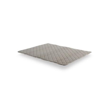 Al ser reversible, este sobrecolchón puede girarse regularmente en el sentido cabeza/pies y verano/invierno para un uso óptimo.