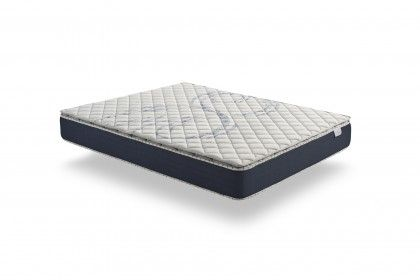 Combining two components, AeraPur HQ polyurethane foam in the core of the mattress topper and latex in the ticking, it adapts to your body to improve your sleep quality.